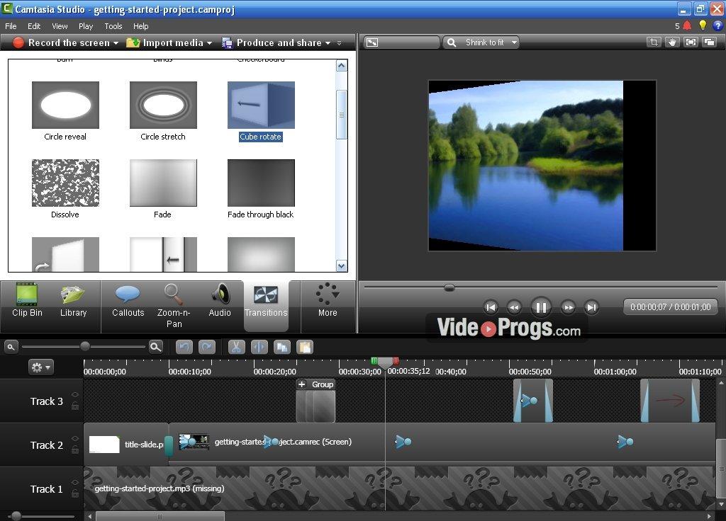 Видеозаставка интро для видео #1, сделанная в camtasia studio 8.